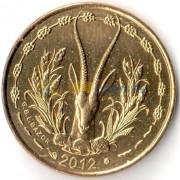 Западная Африка 2012 5 франков