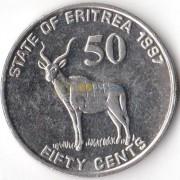 Эритрея 1997 50 центов Большой куду