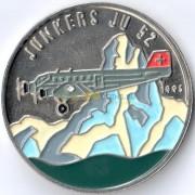 Конго 1995 100 франков Юнкерс 52