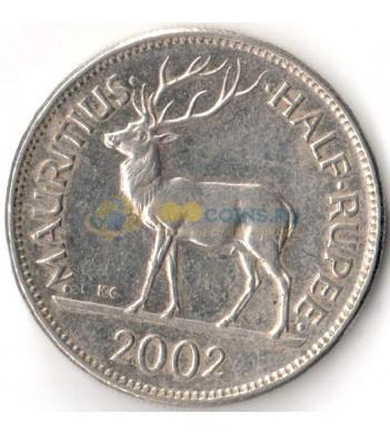 Маврикий 2002 1/2 рупии
