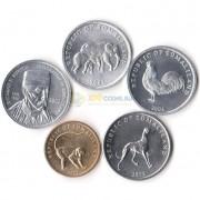 Сомалиленд 2002-2005 набор 5 монет Животные