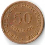 Ангола 1954 50 сентаво