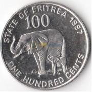 Эритрея 1997 100 центов Слон