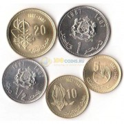 Марокко 1987 набор 5 монет