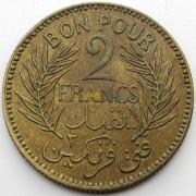 Тунис 1941 2 франка