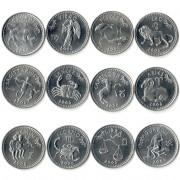 Сомалиленд 2006 Набор 12 монет Знаки зодиака