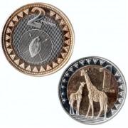 Южный Судан 2015 Набор 2 монеты Животные
