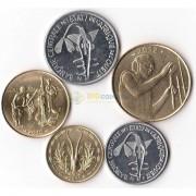 Западная Африка 2010-2012 набор 5 монет