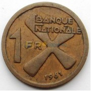 Катанга 1961 1 франк