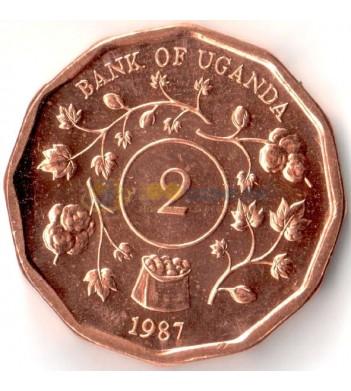 Уганда 1987 2 шиллинга