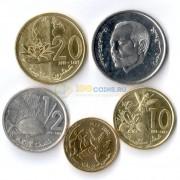 Марокко 2002-2017 набор 5 монет