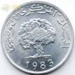 Тунис 1960-1996 5 миллимов