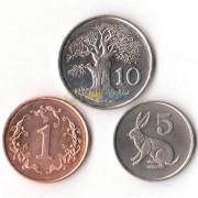 Зимбабве 1989-1999 набор 3 монеты