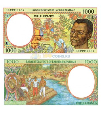 Центральная Африка 1000 франков 2000 (L - Габон)