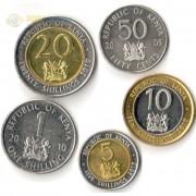 Кения 2005-2010 набор 5 монет