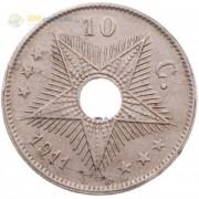Бельгийское Конго 1911 10 сантимов