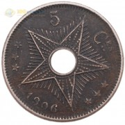 Конго 1906 5 сантимов
