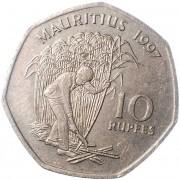 Маврикий 1997-2000 10 рупий