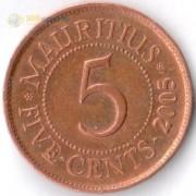 Маврикий 1987-2017 5 центов