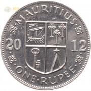 Маврикий 2012 1 рупия