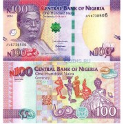 Нигерия бона 100 найра 2014
