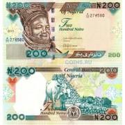 Нигерия бона 200 найра 2015