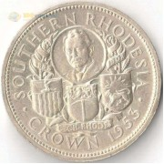 Южная Родезия 1953 1 крона Елизавета II