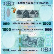 Руанда бона (new) 1000 франков 2019
