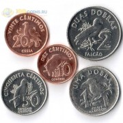 Сан-Томе и Принсипи 2017 набор 5 монет Птицы