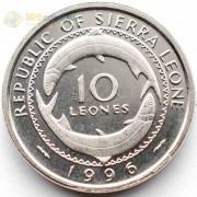 Сьерра-Леоне 1996 10 леоне Рыбы