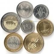 Восточный Тимор 2003-2017 набор 7 монет