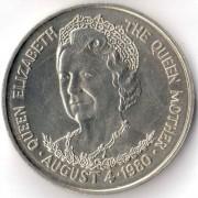 Тристан-да-Кунья 1980 25 пенсов 80 лет Королеве матери