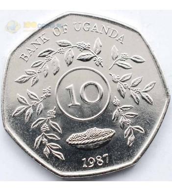 Уганда 1987 10 шиллингов