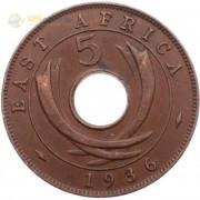 Восточная Африка 1936 5 центов