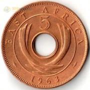 Восточная Африка 1955-1963 5 центов