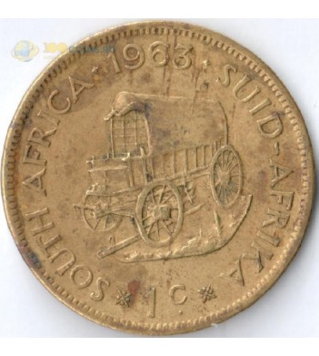 ЮАР 1961-1964 1 цент (F-VF)