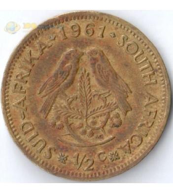ЮАР 1961-1964 1/2 цента (F-VF)