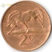 ЮАР 1970-1990 2 цента Антилопа Гну