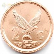 ЮАР 1996 2 цента Орел
