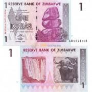 Зимбабве бона 1 доллар 2007