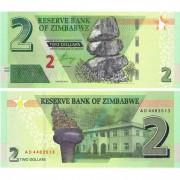 Зимбабве бона (new) 2 доллара 2019