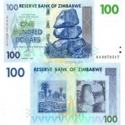 Зимбабве бона 100 долларов 2007