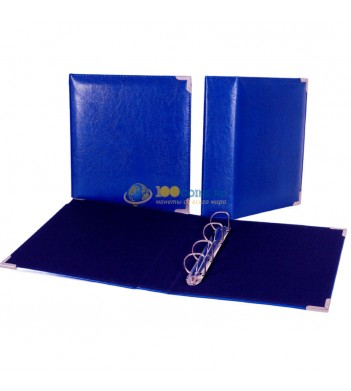 Папка (формат Оптима) иск.кожа (синяя) d40