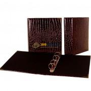 Папка (формат Оптима) рифленая (коричневая) d50