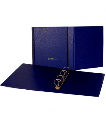 Папка (формат Оптима) ПВХ (синяя) d50