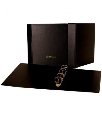 Папка (формат Оптима) ПВХ (черная) d40