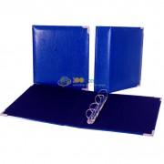 Папка (формат Оптима) иск.кожа (синяя) d50