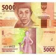 Индонезия бона 5000 рупий 2016 (new)