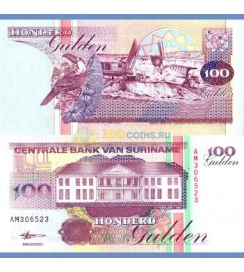 Суринам бона 100 гульденов 1998