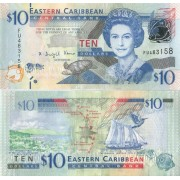 Восточные Карибы бона 10 долларов 2008